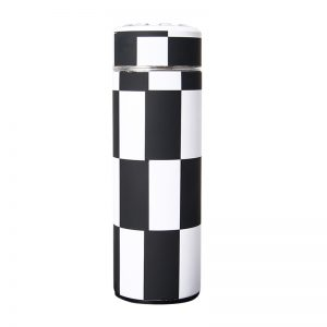 Checkered rvs waterfles